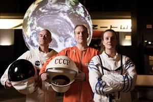 Gene Cernan, Yuri Gagarin and Svetlana Savitskaya