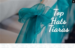 Top Hats and Tiaras - Photo booth website design by Toolkit Websites, professional web designers