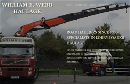 William E. Webb Haulage - Taxi website design by Toolkit Websites, Southampton