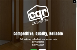CQR Carpentry - 1-page website design by Toolkit Websites, Southampton