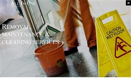 All in One Services - Cleaning website design by Toolkit Websites, Southampton