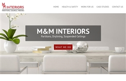 M&M Interiors web design Hampshire case study