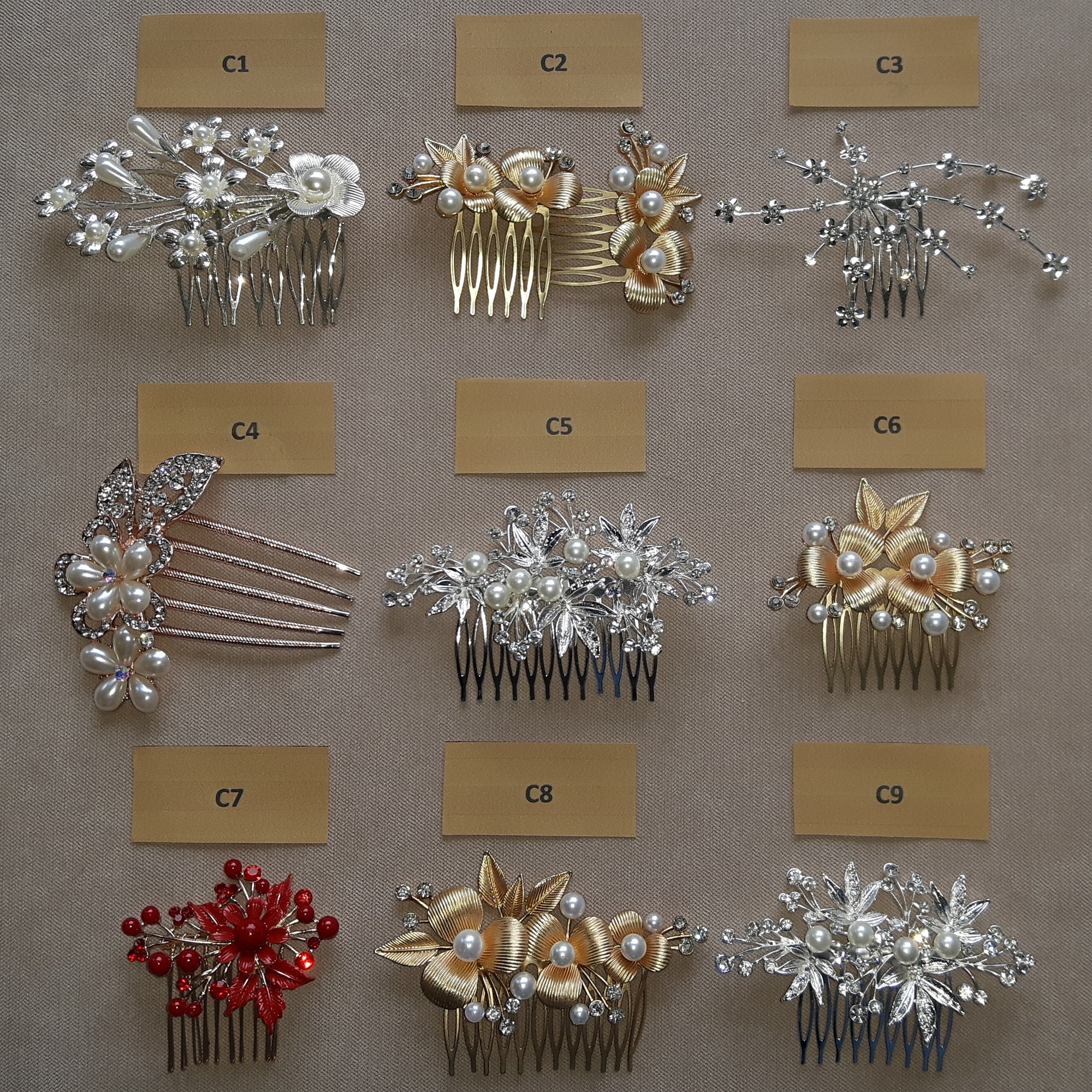 <strong>                                                                BRIDAL HAIR COMBS</strong>