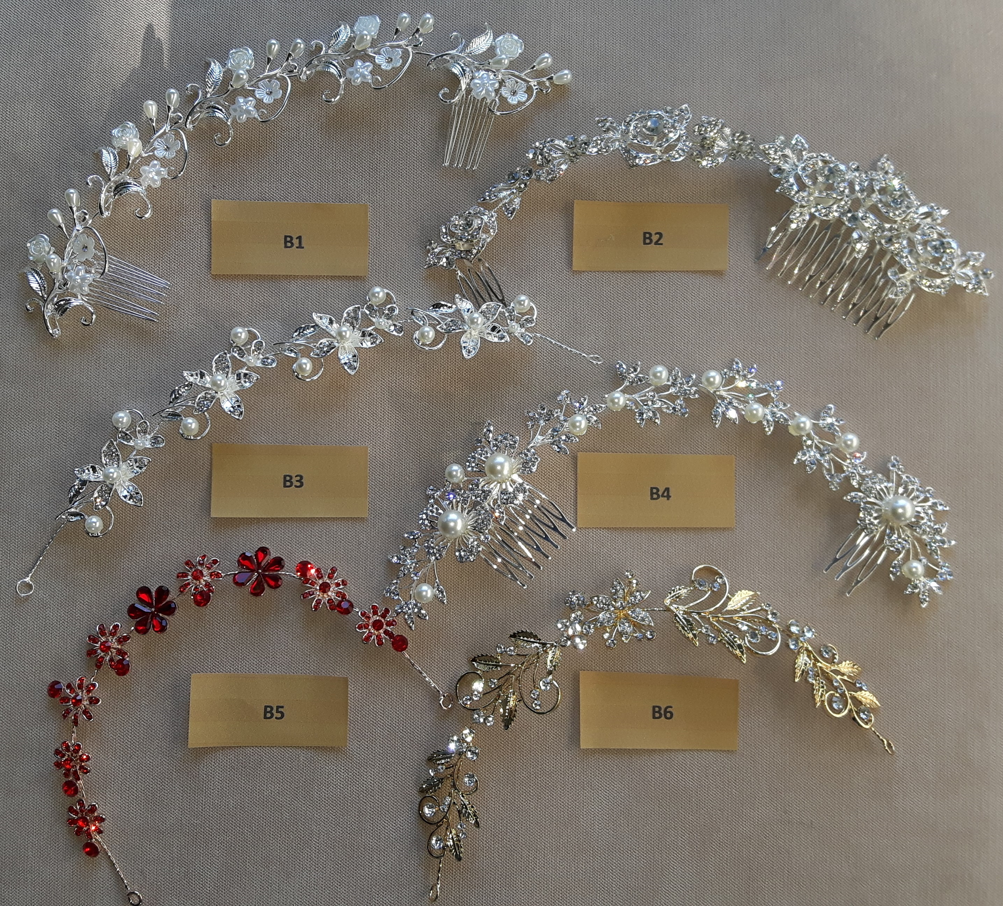<strong>                                                                 BRIDAL HAIR BANDS</strong>