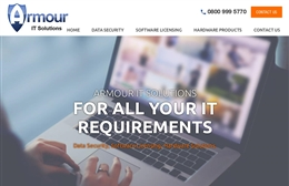 Armour IT Solutions Ltd - IT website design by Toolkit Websites, professional web designers