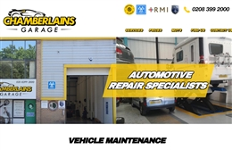 Chamberlains Garage Ltd  - Automotive website design by Toolkit Websites, expert web designers