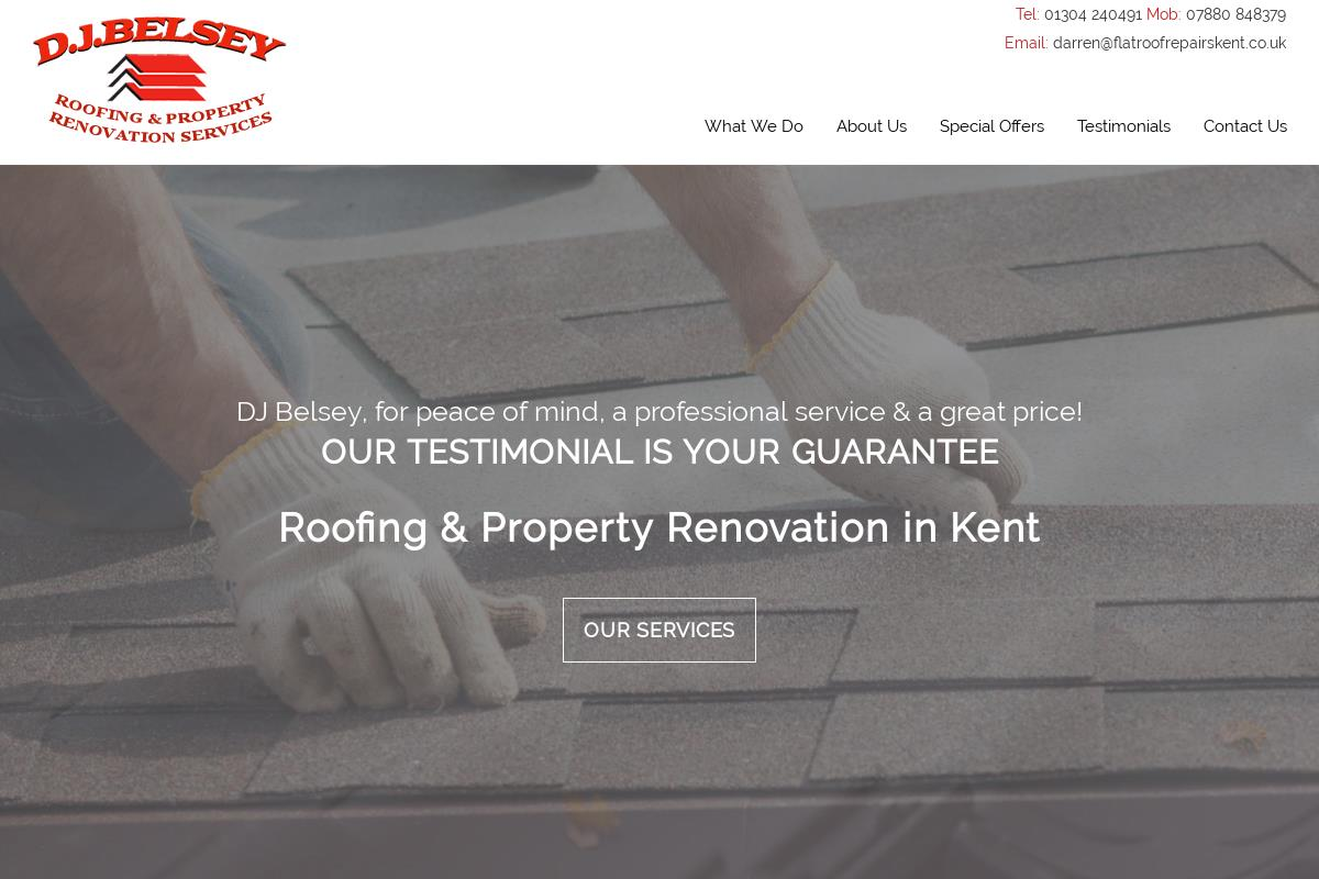 Welcome To D J Belsey Roofing D J Belsey Roofing