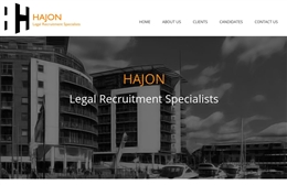 Hajon - Recruitment website design by Toolkit Websites, Southampton