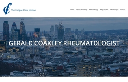 The Fatigue Clinic London - Surgeon website design by Toolkit Websites, Southampton