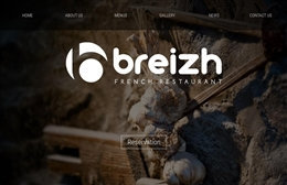 Breiz Restaurant website design by Toolkit Websites, Southampton