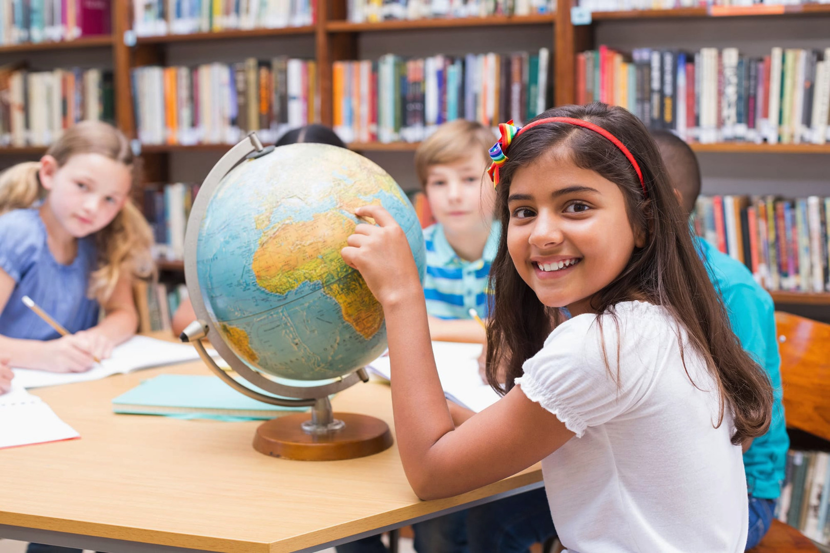 Group of Children with World Globe
