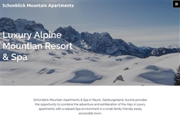 Schonblick Mountain Apartments - website design by Toolkit Websites, Southampton