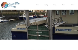 Aquamarine Charters - Marine website design by Toolkit Websites, professional web designers