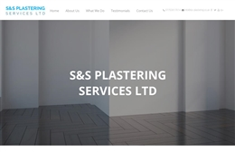 S&S Plastering Services Ltd - 1-page website design by Toolkit Websites, Southampton