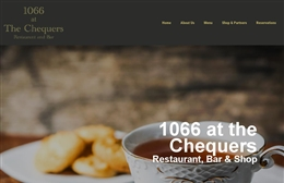 1066 at the Chequers - Restaurant website design by Toolkit Websites, Southampton