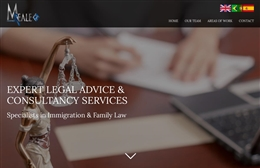 M Reale - Solicitors firm website design by Toolkit Websites, professional web designers