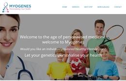 Myogenes - Medical website design by Toolkit Websites, Southampton