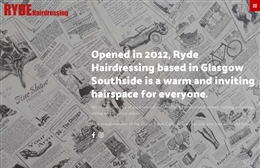 Ryde Hairdressing - website design by Toolkit Websites, Southampton