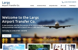 Largs Airport Transfer Co - Website design by Toolkit Websites, Southampton, Hampshire