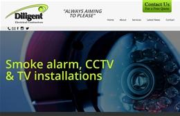 Diligent Electrical Contractors - Electrical contractors website design by Toolkit Websites, Southampton