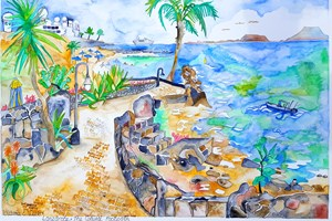 Canary Islands, Lanzarote, Coastal Footpath Playa Blanca