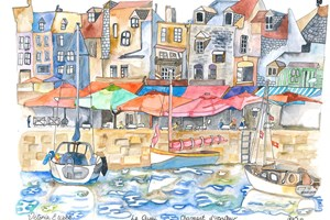 Normandy,Le Quai Charmant d'Honfleur