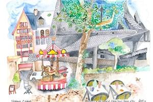 Normandy, Le Vieux Marche et L'eglise de Saint Jeanne d'Arc, Rouen <iframe frameborder='no' scrolling='no' src='http://www.maisonartsoleil.com/pp/1263'  width='250px'  height='145px' ></iframe>
