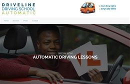 Driveline - Driving instructor website design by Toolkit Websites, Southampton