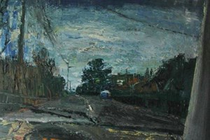 Driving in a wet landscape