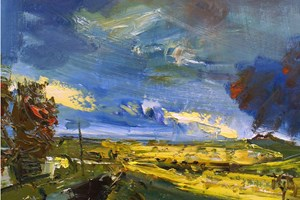 Heavy clouds over Roughtor  oil on board 122x92cms  2011