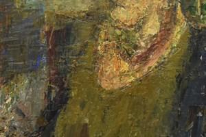 Self portrait / oil on board / 122 x 62cms / 2019