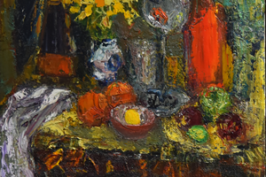 Still life with lime                    oil on board     122x92cms     2015