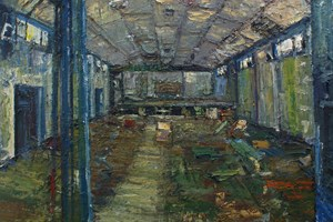 The derelict social hall at Davidstow