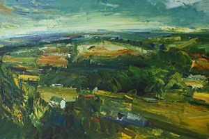 Early morning at Lanner / oil on board / 92x153cms / 1994