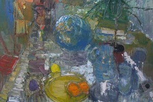 Still life with globe