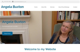 Angela Buxton - Counselling website design by Toolkit Websites, Southampton