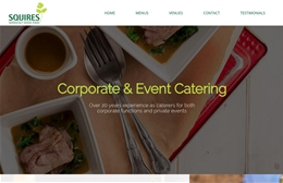 Squires Catering - Catering website design by Toolkit Websites, Southampton