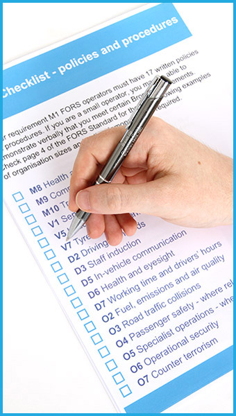 The FORS Audit help and assistance to suit your situation