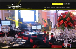 Lavish Events - Event Management website design by Toolkit Websites, professional web designers