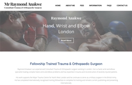 Raymond Anakwe - Surgeon website design by Toolkit Websites, professional web designers