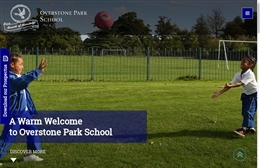 Overstone Park School - School website design by Toolkit Websites