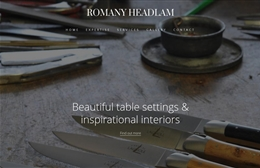 Romany Headlam Ltd - Interior design website by Toolkit Websites, Southampton