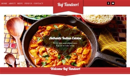 Raj Tandoori - Takeaway website design by Toolkit Websites, Southampton