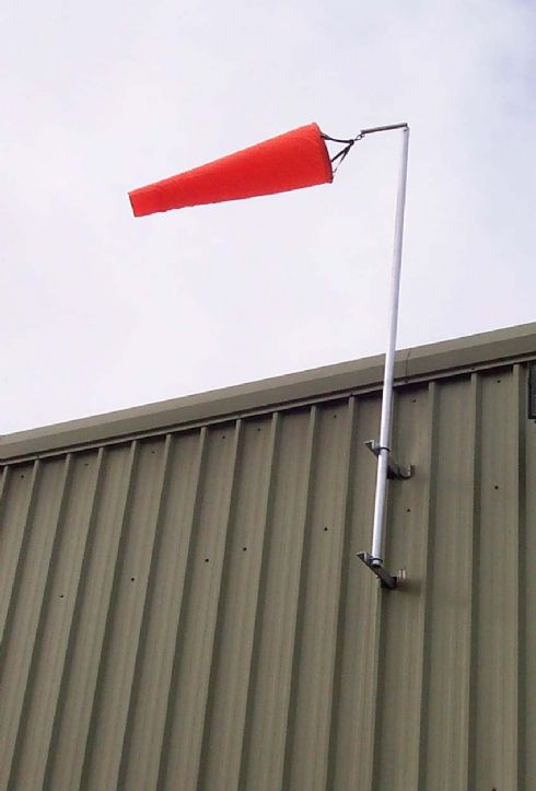 4ft Windsock on Side of Factory