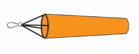 Snap-on Dayglow Orange Windsock