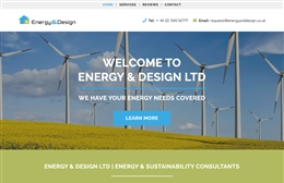 Energy and Design Ltd - Property website design by Toolkit Websites, professional web designers