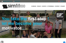 Simfit 100 - Personal Trainer website design by Toolkit Websites, professional web designers