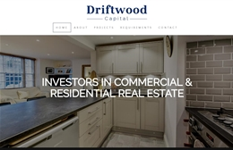 Driftwood Capital - Property development website design by Toolkit Websites, Southampton