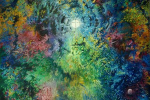 Big Bang Alpha – Omega, Oil on Linen, 180cm x 130cm
