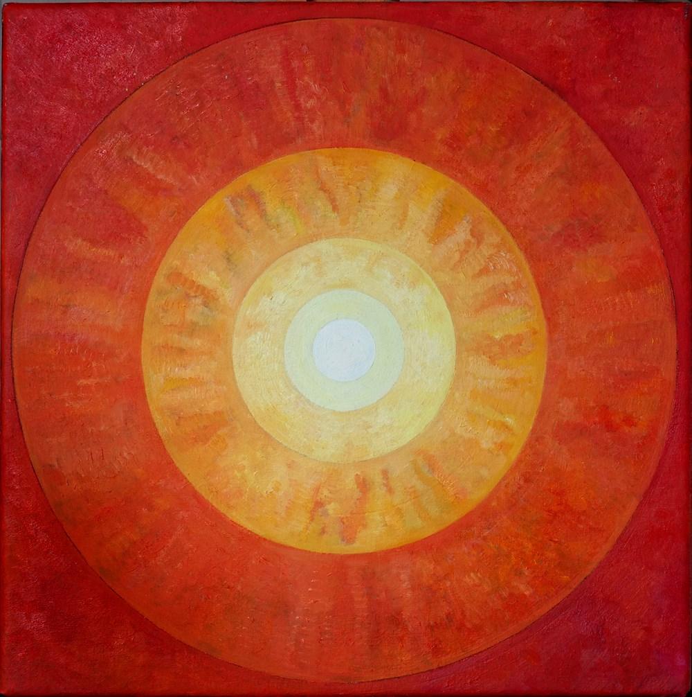 Inner Sun, Oil on Linen, 40cm x 40cm